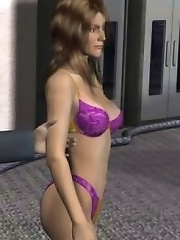 3D beauty fucked by a red devil